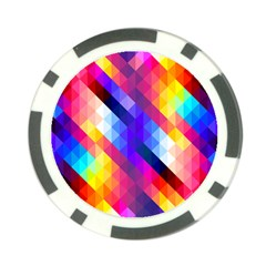 Abstract Background Colorful Pattern Poker Chip Card Guard (10 Pack)