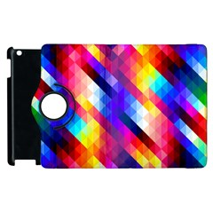 Abstract Background Colorful Pattern Apple Ipad 2 Flip 360 Case