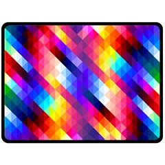 Abstract Background Colorful Pattern Double Sided Fleece Blanket (large)
