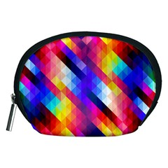Abstract Background Colorful Pattern Accessory Pouches (medium)  by Nexatart