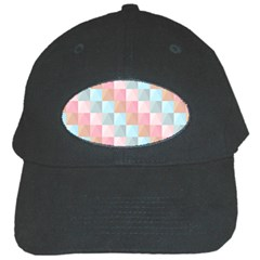 Abstract Pattern Background Pastel Black Cap