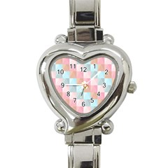 Abstract Pattern Background Pastel Heart Italian Charm Watch