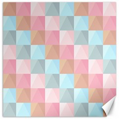 Abstract Pattern Background Pastel Canvas 20  X 20   by Nexatart
