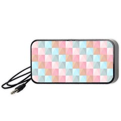 Abstract Pattern Background Pastel Portable Speaker