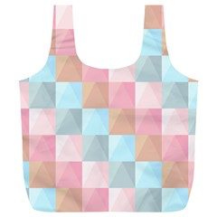 Abstract Pattern Background Pastel Full Print Recycle Bags (l)