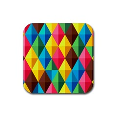 Background Colorful Abstract Rubber Coaster (square)  by Nexatart