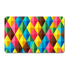 Background Colorful Abstract Magnet (rectangular) by Nexatart