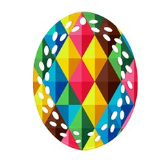 Background Colorful Abstract Ornament (oval Filigree)
