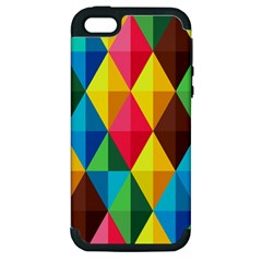 Background Colorful Abstract Apple Iphone 5 Hardshell Case (pc+silicone)