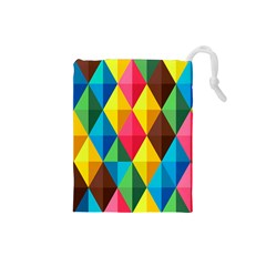 Background Colorful Abstract Drawstring Pouches (small)