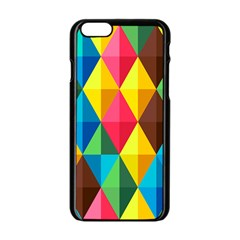 Background Colorful Abstract Apple Iphone 6/6s Black Enamel Case