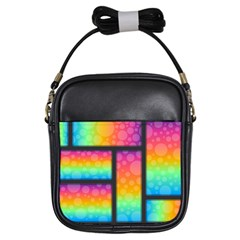 Background Colorful Abstract Girls Sling Bags