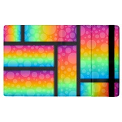 Background Colorful Abstract Apple Ipad Pro 12 9   Flip Case by Nexatart
