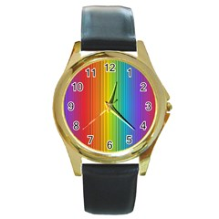 Background Colorful Abstract Round Gold Metal Watch by Nexatart