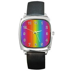 Background Colorful Abstract Square Metal Watch by Nexatart
