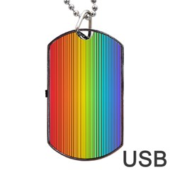 Background Colorful Abstract Dog Tag Usb Flash (one Side)