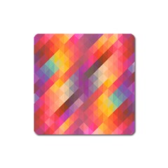 Abstract Background Colorful Pattern Square Magnet