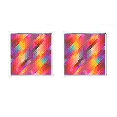 Abstract Background Colorful Pattern Cufflinks (square) by Nexatart