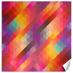 Abstract Background Colorful Pattern Canvas 12  X 12   by Nexatart