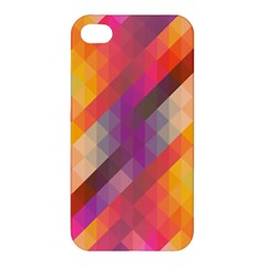 Abstract Background Colorful Pattern Apple Iphone 4/4s Premium Hardshell Case