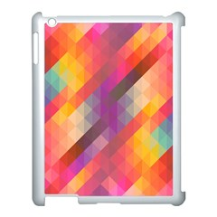 Abstract Background Colorful Pattern Apple Ipad 3/4 Case (white)