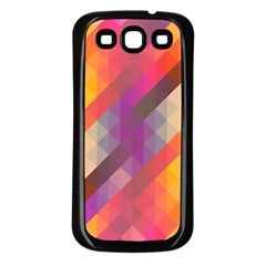 Abstract Background Colorful Pattern Samsung Galaxy S3 Back Case (black)