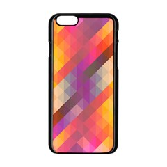 Abstract Background Colorful Pattern Apple Iphone 6/6s Black Enamel Case