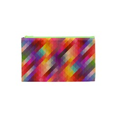 Abstract Background Colorful Pattern Cosmetic Bag (xs)