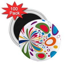 Light Circle Background Points 2 25  Magnets (100 Pack)  by Nexatart
