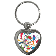 Light Circle Background Points Key Chains (heart)  by Nexatart