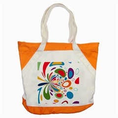 Light Circle Background Points Accent Tote Bag