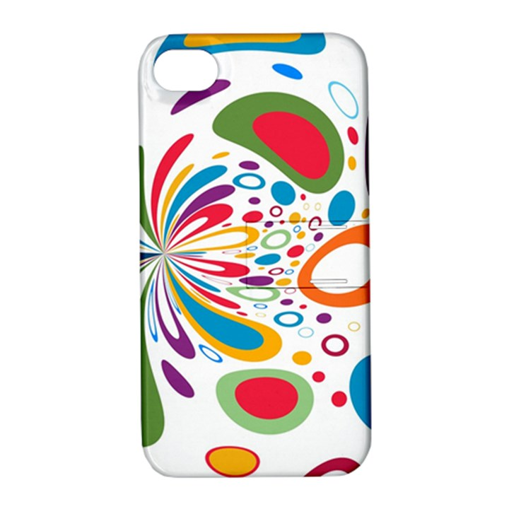 Light Circle Background Points Apple iPhone 4/4S Hardshell Case with Stand