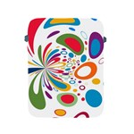Light Circle Background Points Apple iPad 2/3/4 Protective Soft Cases Front