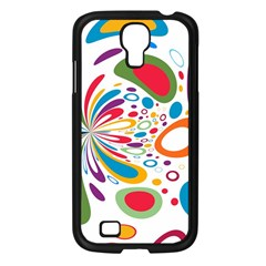 Light Circle Background Points Samsung Galaxy S4 I9500/ I9505 Case (black)
