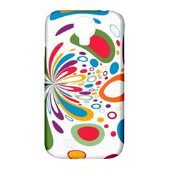 Light Circle Background Points Samsung Galaxy S4 Classic Hardshell Case (pc+silicone)