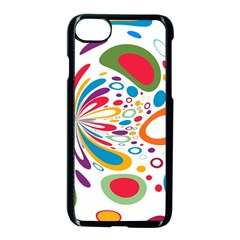 Light Circle Background Points Apple Iphone 7 Seamless Case (black)