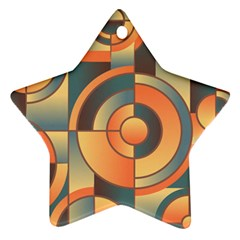 Background Abstract Orange Blue Ornament (star)