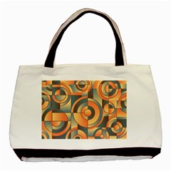 Background Abstract Orange Blue Basic Tote Bag (two Sides)