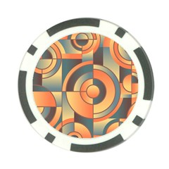 Background Abstract Orange Blue Poker Chip Card Guard