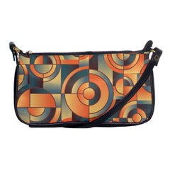 Background Abstract Orange Blue Shoulder Clutch Bags by Nexatart