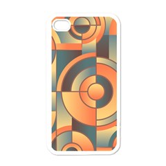 Background Abstract Orange Blue Apple Iphone 4 Case (white) by Nexatart