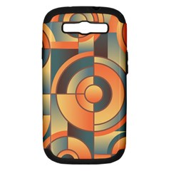 Background Abstract Orange Blue Samsung Galaxy S Iii Hardshell Case (pc+silicone) by Nexatart