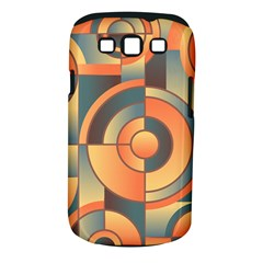 Background Abstract Orange Blue Samsung Galaxy S Iii Classic Hardshell Case (pc+silicone)