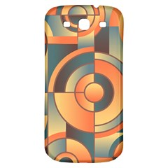 Background Abstract Orange Blue Samsung Galaxy S3 S Iii Classic Hardshell Back Case by Nexatart