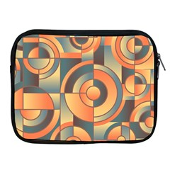 Background Abstract Orange Blue Apple Ipad 2/3/4 Zipper Cases