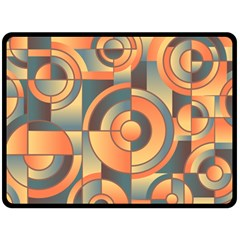Background Abstract Orange Blue Double Sided Fleece Blanket (large)  by Nexatart