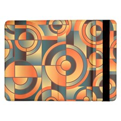 Background Abstract Orange Blue Samsung Galaxy Tab Pro 12 2  Flip Case by Nexatart