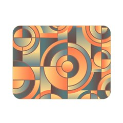 Background Abstract Orange Blue Double Sided Flano Blanket (mini)
