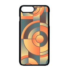 Background Abstract Orange Blue Apple Iphone 8 Plus Seamless Case (black)