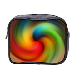 Abstract Spiral Art Creativity Mini Toiletries Bag 2 Side by Nexatart